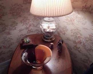 light up art glass paper weight, art glass bowl