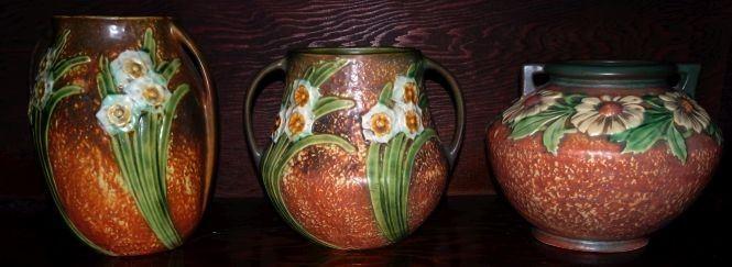 """Roseville Pottery, """"Jonquil"""" & """"Dahlrose"""""""