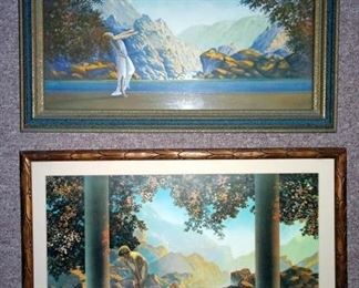 "Robert Woods ""Dawn"", Maxfield Parrish ""Daybreak"""