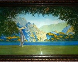 "Large Art Deco Print ""Dawn"" By Robert Wood"