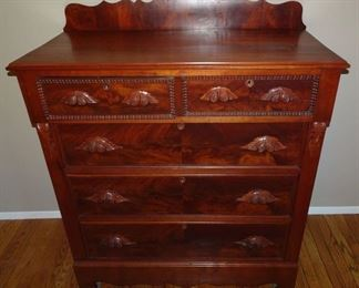 Walnut Tall Chest