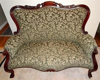 Walnut Love Seat/ Settee