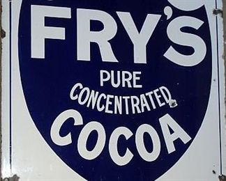 "Porcelain ""Fry's Cocoa"" Sign"
