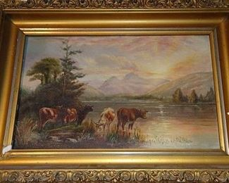 Several Beautiful Oil On Canvas Paintings