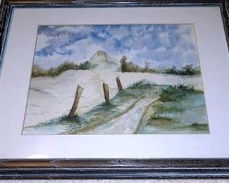 Framed Water Color