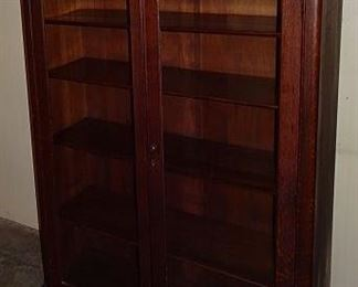 Oak Glass Door Bookcase
