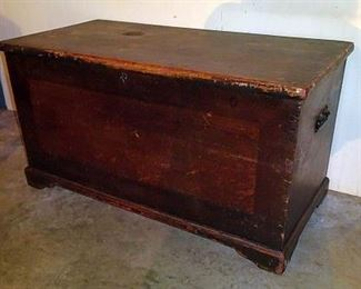 Early Blanket Box W/ Drawers Inside