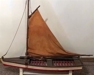 Large Folk Art Boat