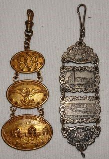 1904 St. Louis World's Fair Watch Fobs