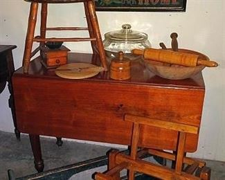 Period Drop Leaf Table, Country Primitives