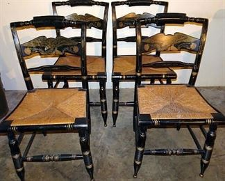 Set Of 4 Hitchcock Chairs