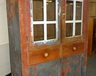 Early Cupboard In Old Paint