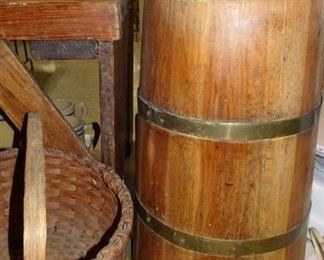 Wooden Dasher Butter Churn