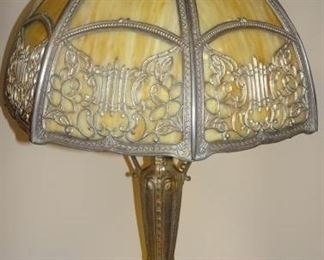 Slag Glass Parlor Lamp