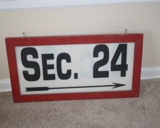 NOTRE DAME SECTION 24 SIGN