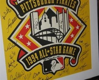 1994 ALL STAR SIGNED POSTER
