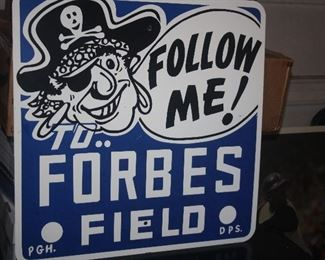 VINTAGE FORBES FIELD SIGN