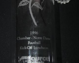 1996 CHAMBER NOTRE DAME FOOTBALL VASE