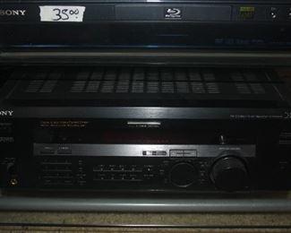SONY BLUE RAY DISC + SONY DIGITAL AUDIO / VIDEO CENTER