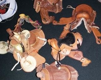 Salesman Samples leather Saddles