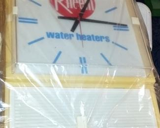 Rheem Advertising Clock