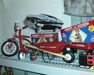 Radio Flyer mini toy Tricycle, Wheelbarrow, Wagon, Scooter great for your bears & dolls