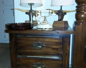 Open Hearth Bedroom Furniture Longhorn Steer Lamps