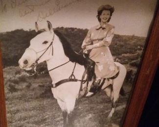 Autographed Dale Evans Photo