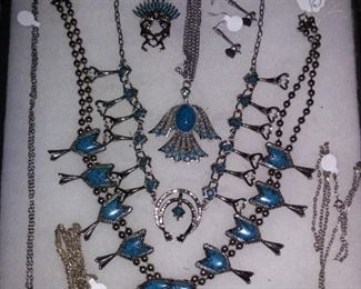 Variety of Native American Jewelry including Turquoise & Silver