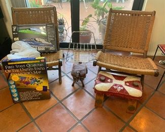 style of Hans WegnerChairs, games and vintage items