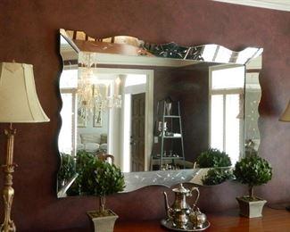 Deco-style mirror.  $250