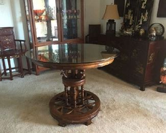 Table is $55.00 Glass is separate at $25