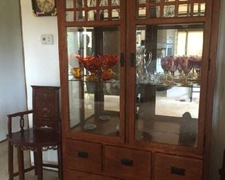 Lighted china cabinet. $125.00