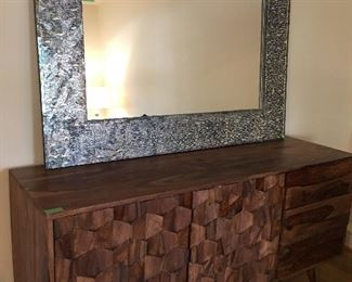 Contemporary Cabinet, Large Mosaic Mirror