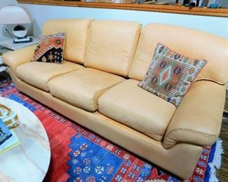 Roche Bobois Leather Sofa and Chair CLEAN!