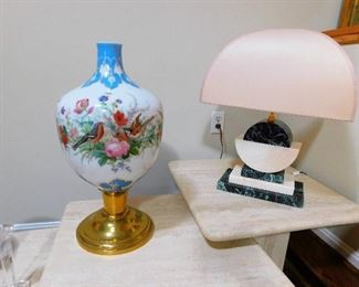 HUGE Hand Painted Glass Vase