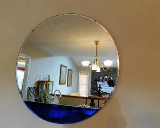 Art Deco Mirror With Swan