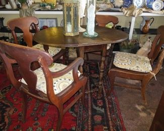 Four Fab, Comfy Chairs with Drop Leaf Table Sold Separately