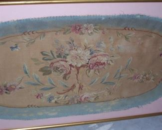 Antique Aubusson Tapestry Probably From Antique French Loveseat
