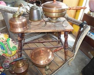 Wonderful Collection Of Brass Serving Pieces