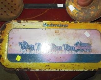 Bud Advertising Tray, Old Whirley Top, Miners Paddle and Much More of this Type Of Collectible