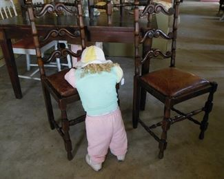Baby Jane in Timeout and Four Fab French Chairs With Leather Seats