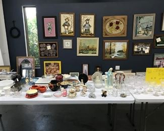 Glassware and antiques