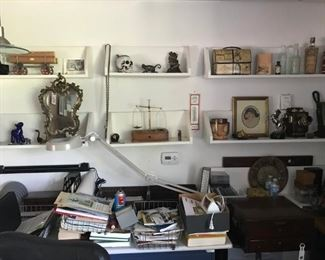 Shelves of small items of one of a kind