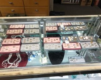 Jewelry and jewelry case filled with quality items and accessories