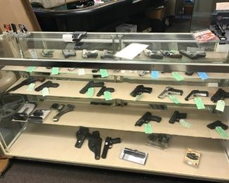 Large collection of hand guns