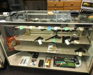 Large collection of pistols and hand guns
