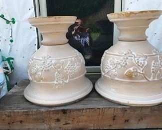 Large selection of flower pots