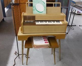 electric organ and stool