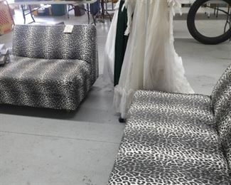 black and white animal print couches